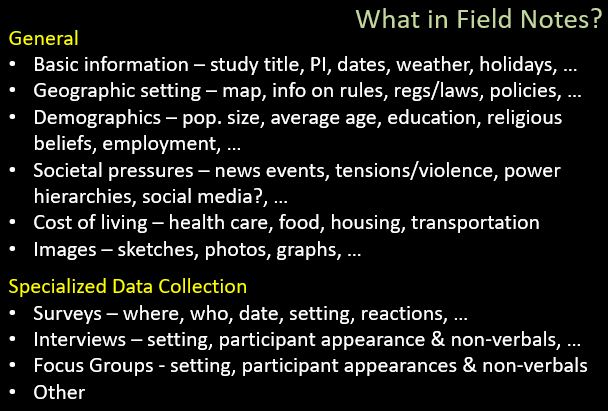 what fieldnotes